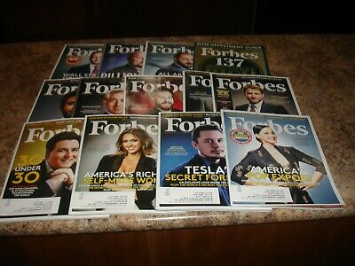 Forbes Magazine Lot 13 Issues 2015 Jessica Alba Elon Musk Katy Perry