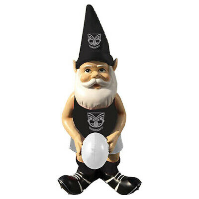 New Zealand NZ Warriors NRL Garden Gnome Statue with White football