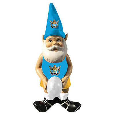 Gold Coast Titans NRL Garden Gnome Statue with White football Easter Gift 2020