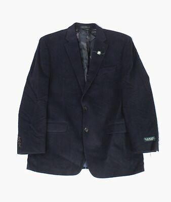 Lauren by Ralph Lauren Mens Blazer Navy Blue Size 42 Two Button Wool $450 #066