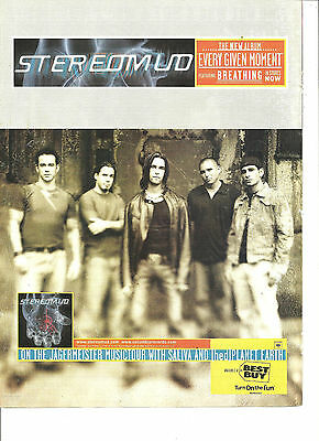 Stereomud, Every Given Moment, Full Page Promotional Ad