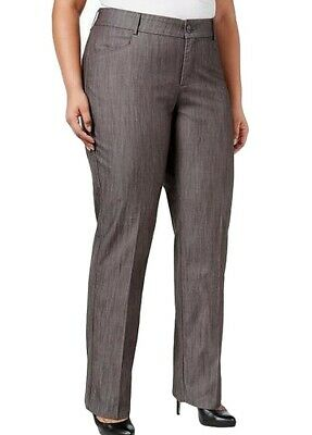 Lee Platinum Label Womens Pants Gray Size 18W Plus Madelyn Stretch $60 268