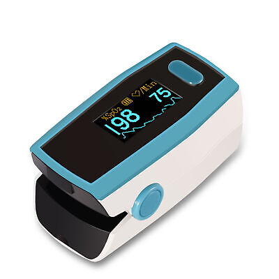 OLED Fingertip Pulse Oximeter Blood Oxygen Saturation Monitor with Lanyard