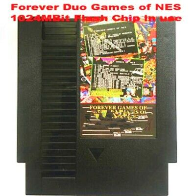 852 in 1 Forever Duo NES Games Nintendo Gold Cartridge Multi Cart 405 & 447 in 1