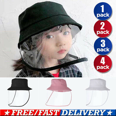 Children Kids Protection Hat Anti-Flu Safety With Clear Face Cover Dustproof Cap