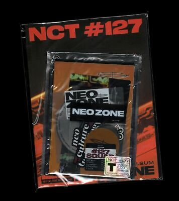 NCT 127 NEO ZONE 2nd Album T Ver CD+Photo Book+3Card+7Sticker+Poster+GIFT SEALED