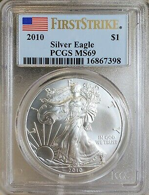 2010 American Silver Eagle PCGS MS69 First Strike