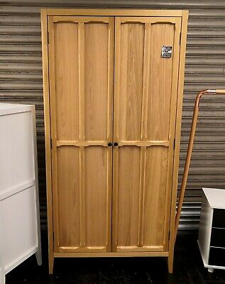 Eugenie 2 Door Oak Veneer Shelf Wardrobe