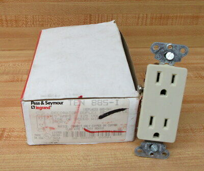 Pass & Seymour/ Legrand 885-I Duplex Receptacle 885I (Pack of 10)