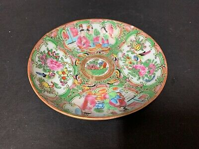 Antique Chinese Export Famille Rose Medallion Ceremonial Court Scene Bowl
