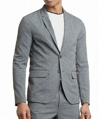 Kenneth Cole NEW Gray Mens Size Large L /44 Two Button Tech Blazer $119 108