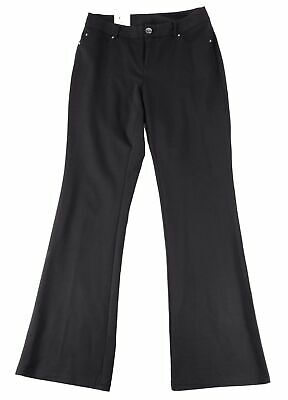 INC Womens Pants Deep Black Size 10 Bootcut Leg Curvy Fit Stretch $69 229