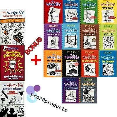 Diary Of A Wimpy Kid Collection 14 Books Set By Jeff Kinney [p.d.f] + 3 GIFT