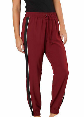 BE BOP Red Size Large L Juniors Striped Jogger Drawstring Pants Stretch $39 #477