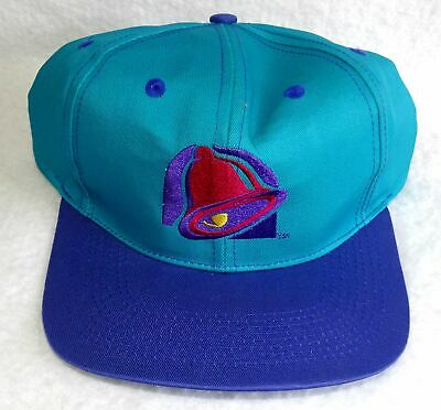 NEW Vintage TACO BELL Ball Cap Turquoise with Embroidered Logo Snapback BARCO