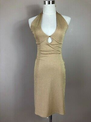 Vintage 70's Mitch Gold dress / Halter / Small Size / Good Condition