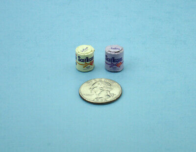 Package of 2 Dollhouse Miniature 1:12 Scale Rolls of Labeled Toilet Paper SD960B
