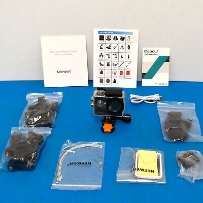 Neewer G0 1080P Touch Screen Ultra HD 4K 12MP Action Camera with Accessories