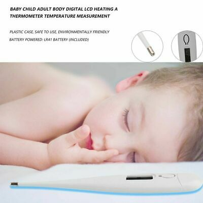 Baby Child Adult Body Digital LCD Heating Thermometer Temp Measurement Meter