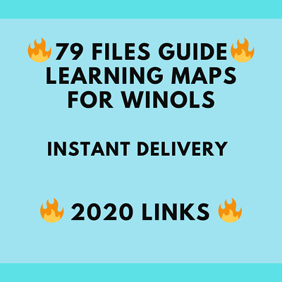🔥 79 Files Guide🔥 Learning maps For Winols 🔥PDF+ Videos With Instant Delivery