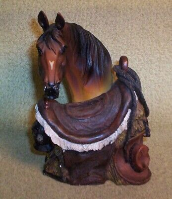Awesome Horse Head, Saddle, Lantern & Cowboy Hat Resin Slotted Still Bank