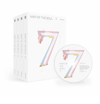 BTS  K POP MAP OF THE SOUL : 7 Album CD+PhotoBook+Sticker+Poster+Free Shipping