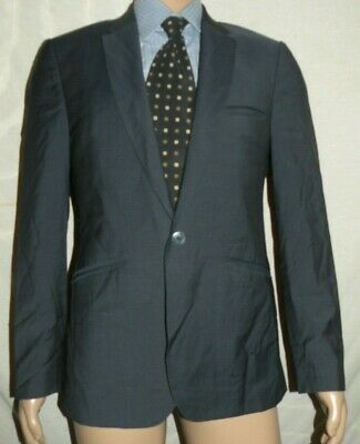 "Ted Baker ""Soprano"" 1 Button Endurance Wool Blue Suit Jacket 40 R Pants 36 x 30"