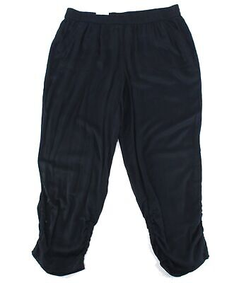 Style & Co. Women's Black Size 16W Plus Jogger Ruched Pants Stretch $59 #242