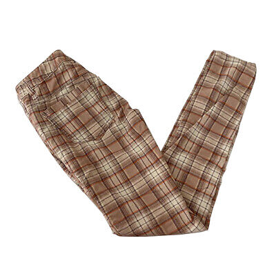 Womens Free People Size 27 Plaid Corduoy Pants