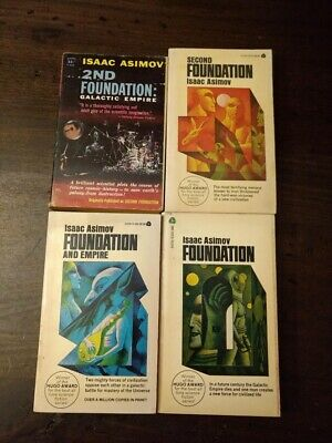 The Foundation Trilogy by Isaac Asimov 3 PB LOT + 2nd Foundation Galactic Empire