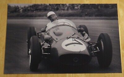 Stirling Moss Formula One F1 Personally Hand Signed Autograph 10X8 Photo