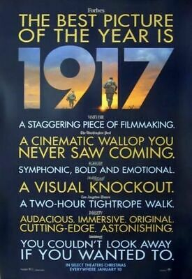 1917 WW1 - original DS movie poster - 27x40 D/S - Review Style - Sam Mendes