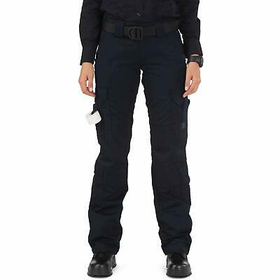 5.11 Tactical Navy Blue Womens Size 8 Long EMS Straigh-Leg Pants Stretch $50 287