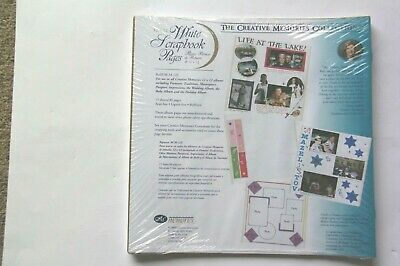 Creative Memories Collection 12 x 12 White Scrapbook Pages NEW SEALED Scrapbook