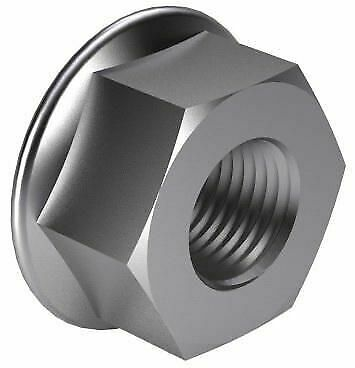 50x Hexagon nut with flange DIN 6923 Steel Zinc plated 10 M14