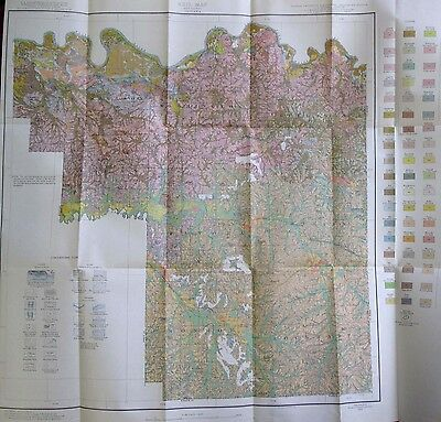 Color Soil Survey Map Pike County Indiana Petersburg Otwell Pikeville Union 1937