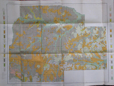 Color Soil Survey Map Lincoln County Louisiana Ruston Simsboro Choudrant 1909