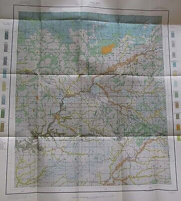 Folded Soil Survey Map Montgomery County Indiana Crawfordsville Ladoga Waynetown