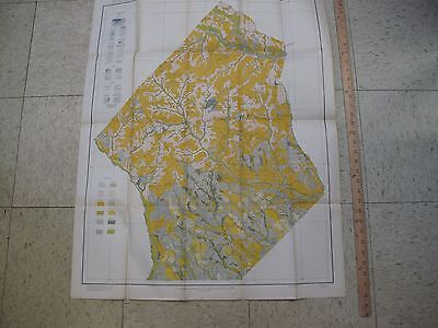 "32 x 26"" Color Lithograph Map Hoke County North Carolina Soil Streams RR Hoen"