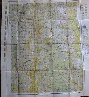 Folded Soil Survey Map Harrison County Missouri Bethany Cainesville Eagleville