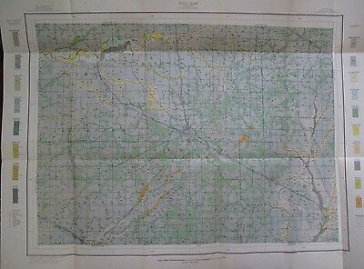 Folded Soil Survey Map Boone County Indiana Lebanon Zionsville Thorntown 1912