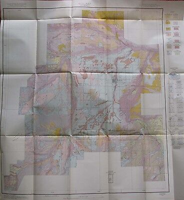 Folded Color Soil Survey Map Wheatland Area Wyoming Hightower Bordeaux Platte Co