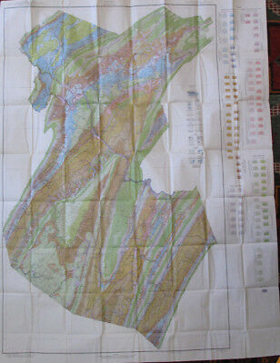 Color Soil Survey Map Huntingdon County Pennsylvania Mount Union Rockhill 1944
