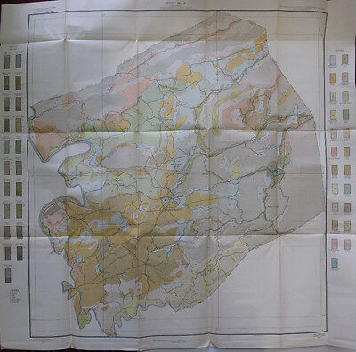 Soil Survey Map Montgomery Co. Virginia Radford Christiansburg Blacksburg 1907