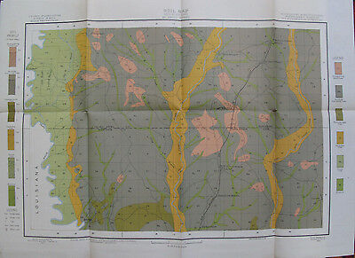 Folded Color Soil Survey Map McNeill Mississippi Caesar Lacey Millard 1903