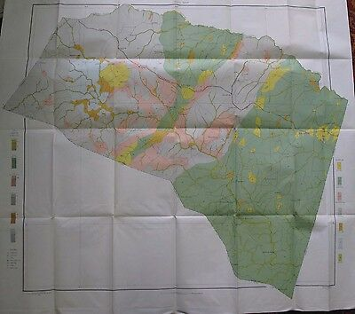 Color Soil Survey Map Louisa County Virginia Bumpass Trevilians Apple Grove 1905