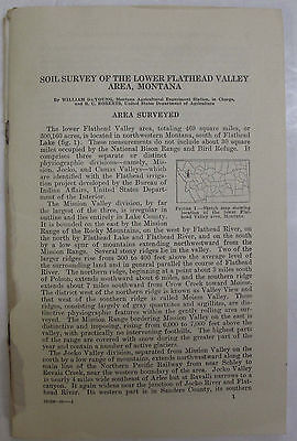 Folded Soil Survey Map The Lower Flathead Valley Montana Polson Pablo Ronan