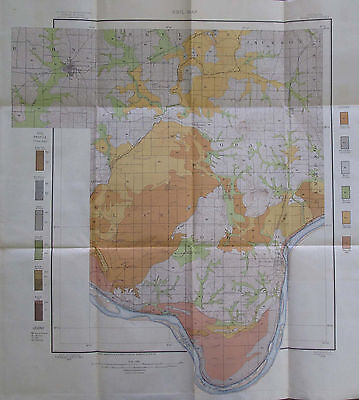 Color Soil Survey Map Boonville Indiana Rockport Chrisney Lake Tennyson 1904