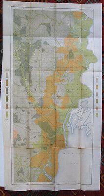 Folded Color Soil Survey Map Mobile Alabama Springhill Chunchula Creola 1903