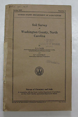 Color Soil Survey Map Washington County North Carolina Plymouth Roper Creswell